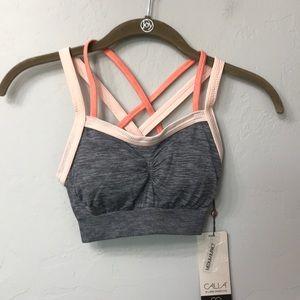 Calia seamless crossback grey bra. Size XS. NWT